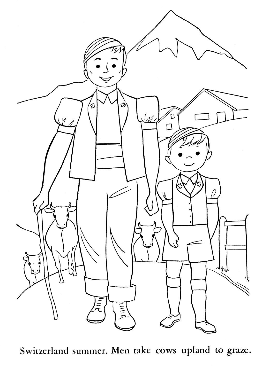 Switzerland Coloring Pages For Kids
