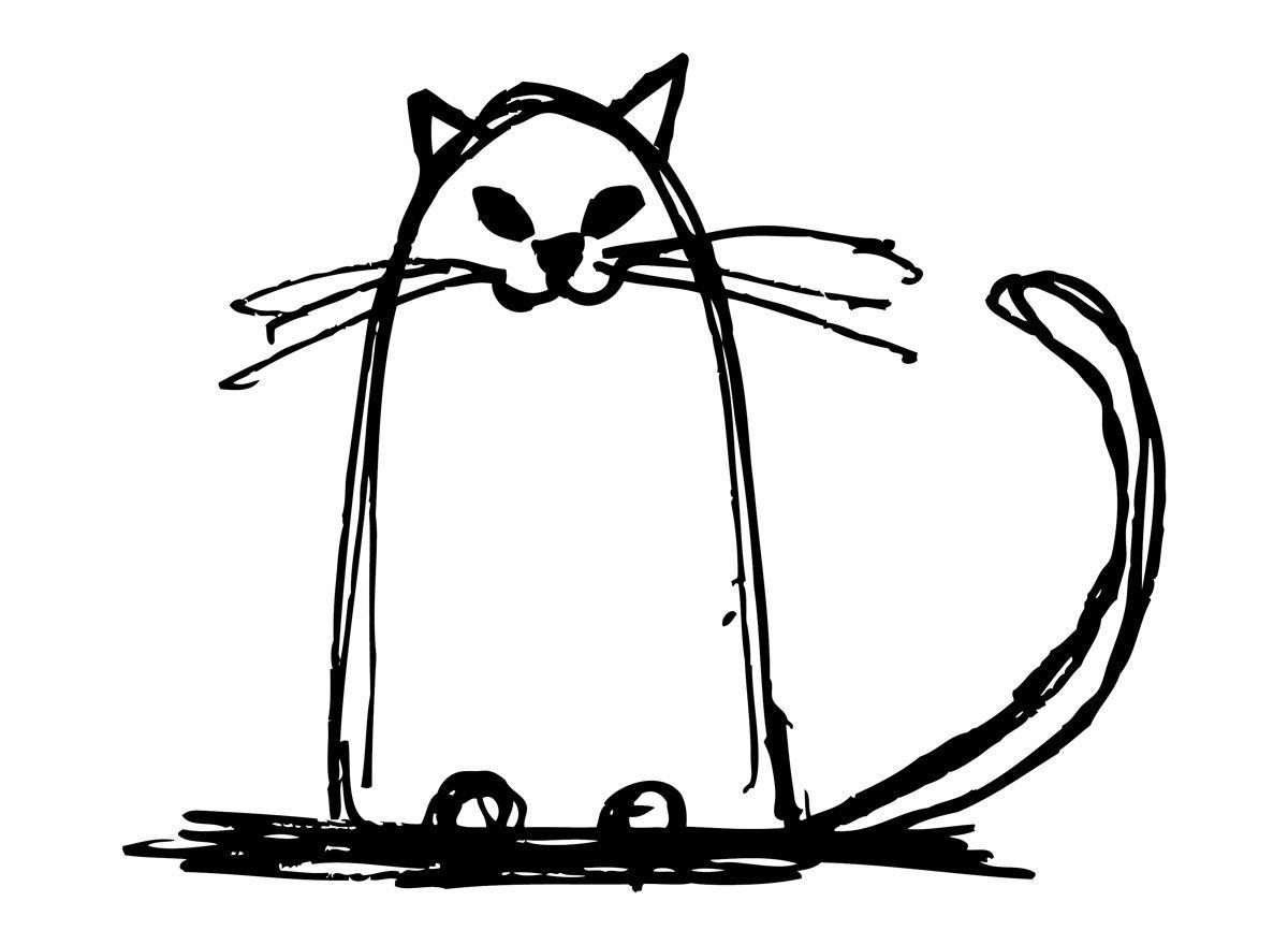Gatto Disegno Stilizzato