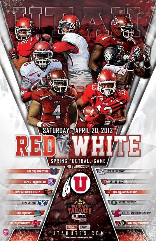 Utah Spring 2013 Football Poster Our Work Pinterest