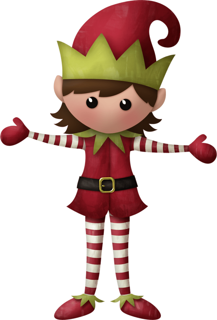 CHRISTMAS GIRL ELF CLIP ART Lutins des Fêtes Pinterest