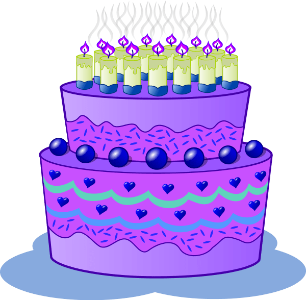 purple birthday cake backgrounds, clipart, images etc