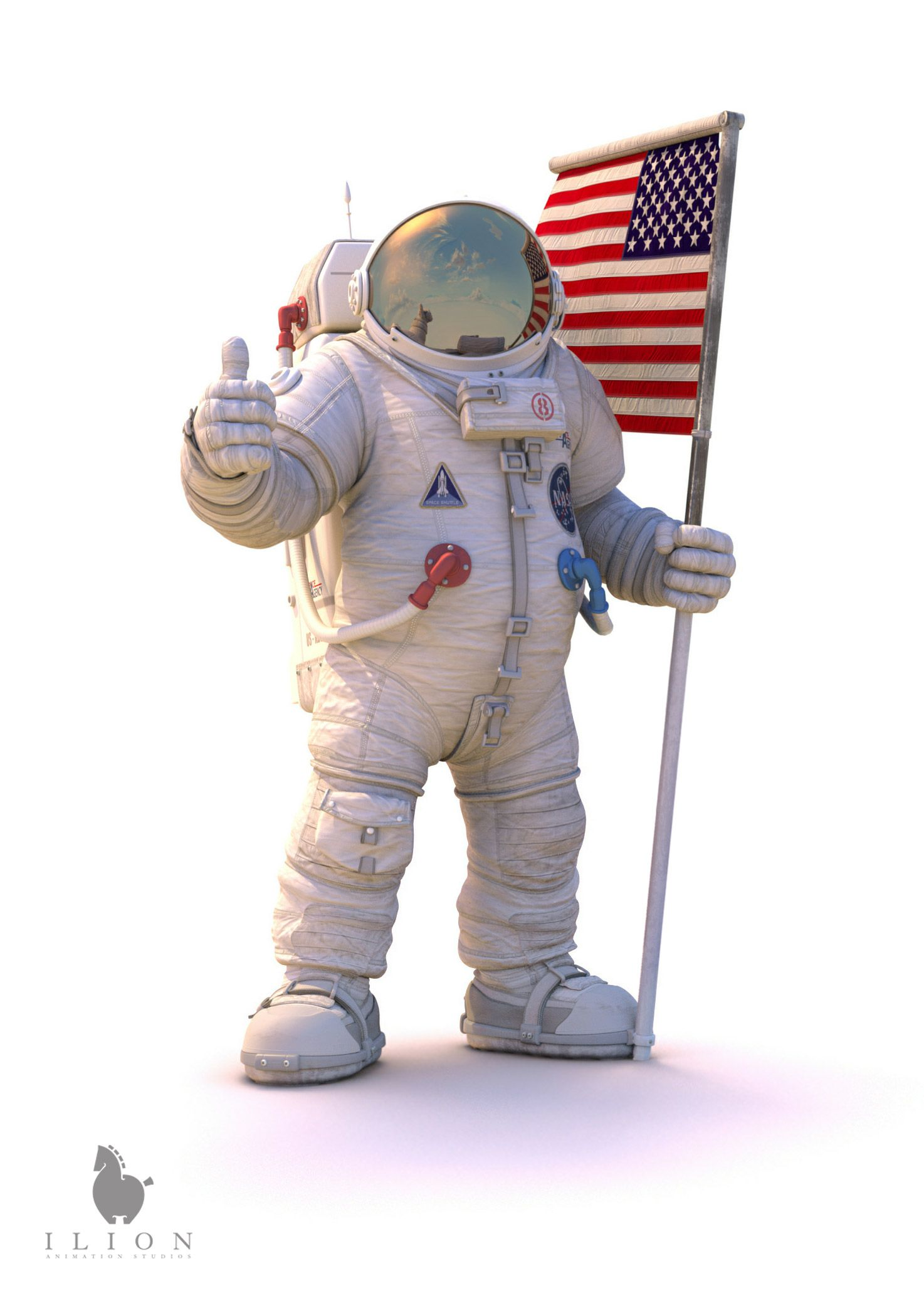 Astronaut 3D 51 Studio Lion References