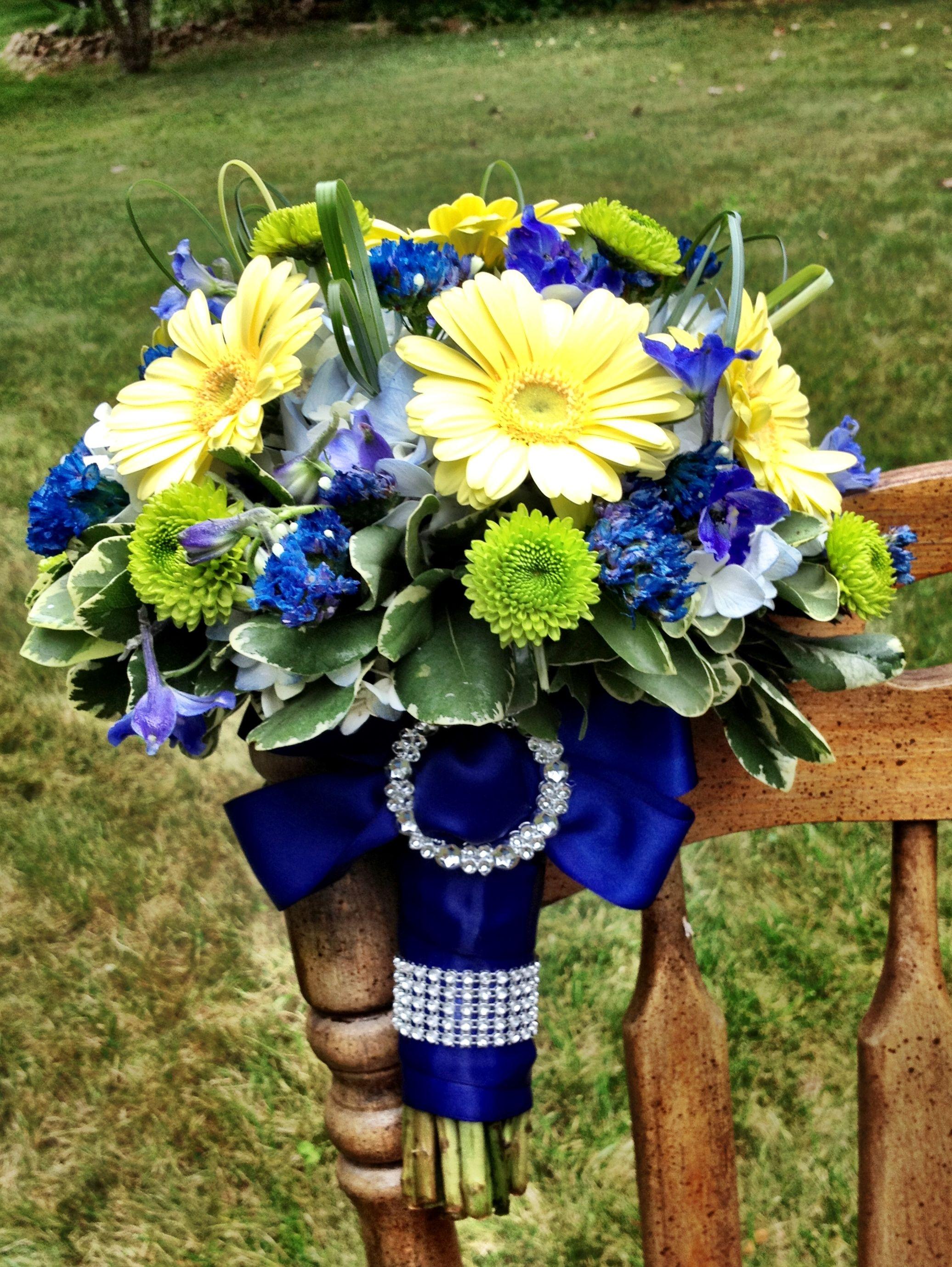Royal Blue wedding flower bouquet, bridal bouquet, wedding