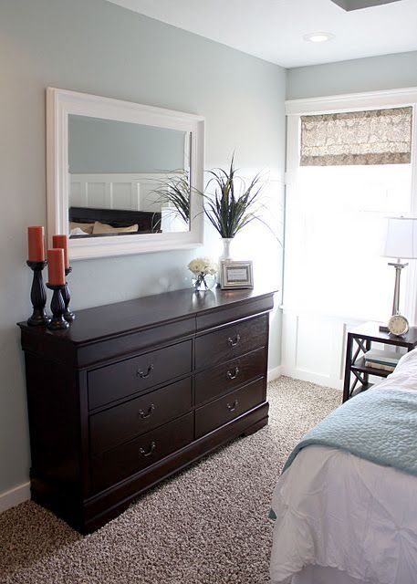 small bedroom layout- i just really love the wall color