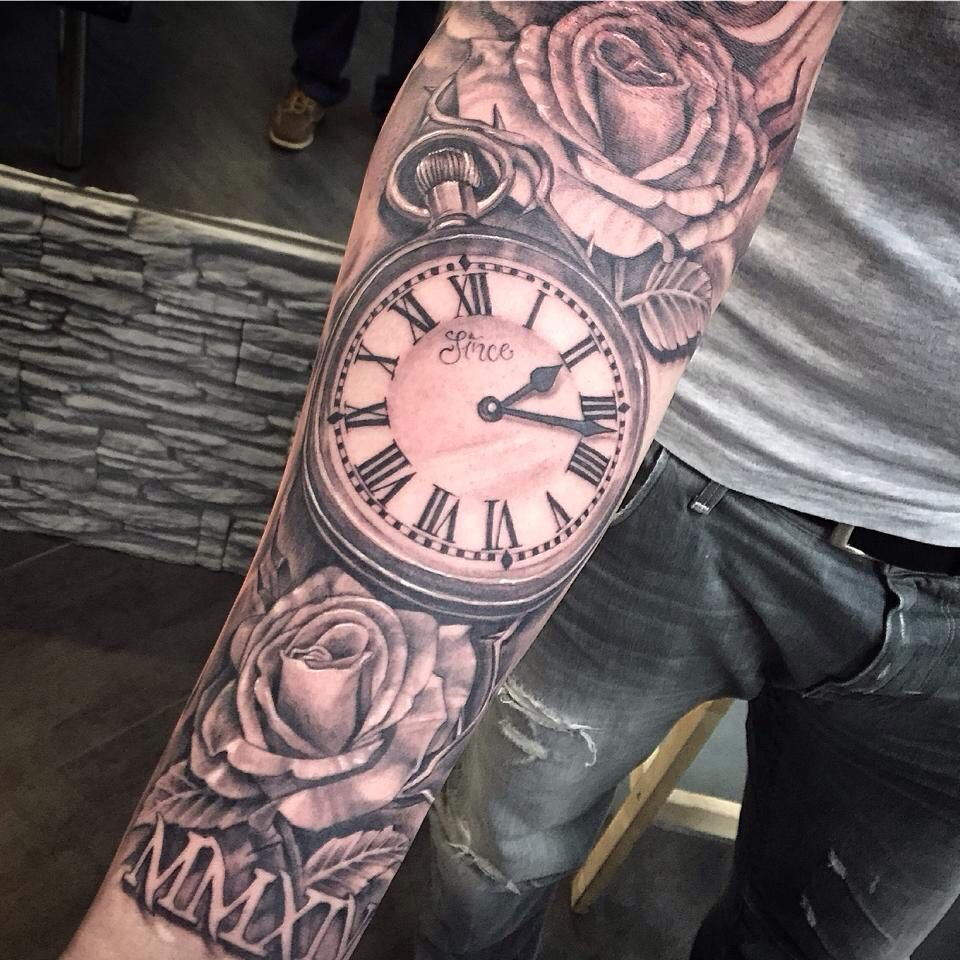 Clock sleeve clock tattoos Pinterest Clocks, Tattoo