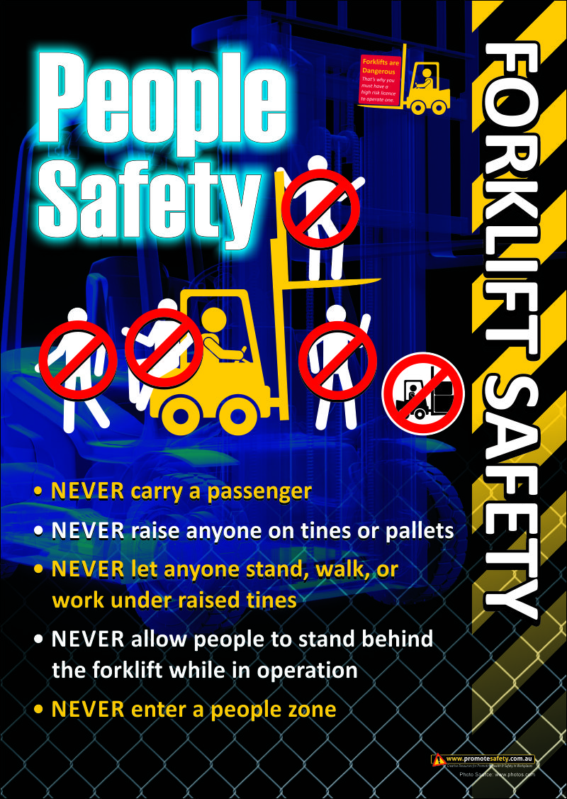 Forklift Safety Poster regarding people around forklifts