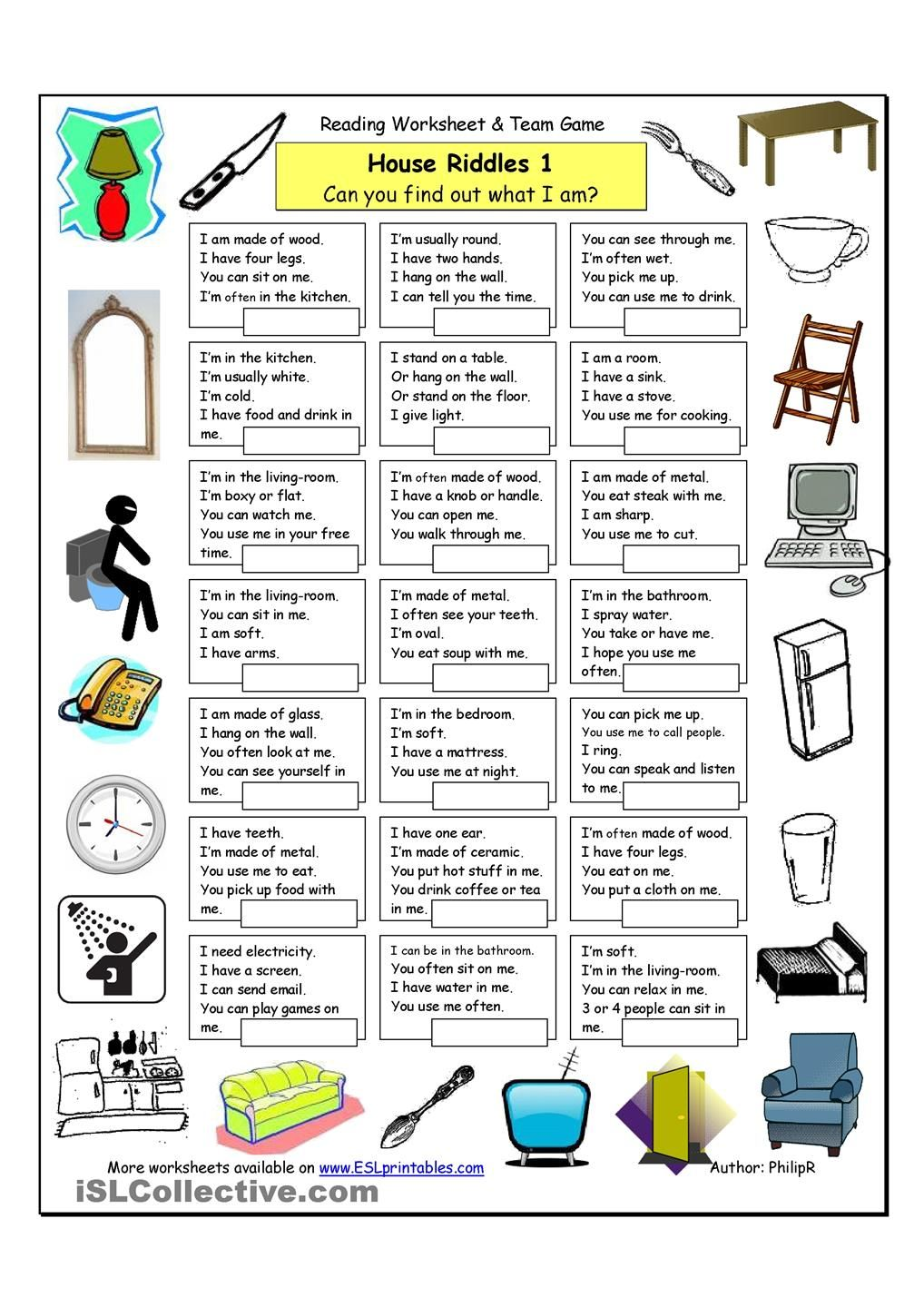 House Riddles (1) Easy A Work Games Pinterest