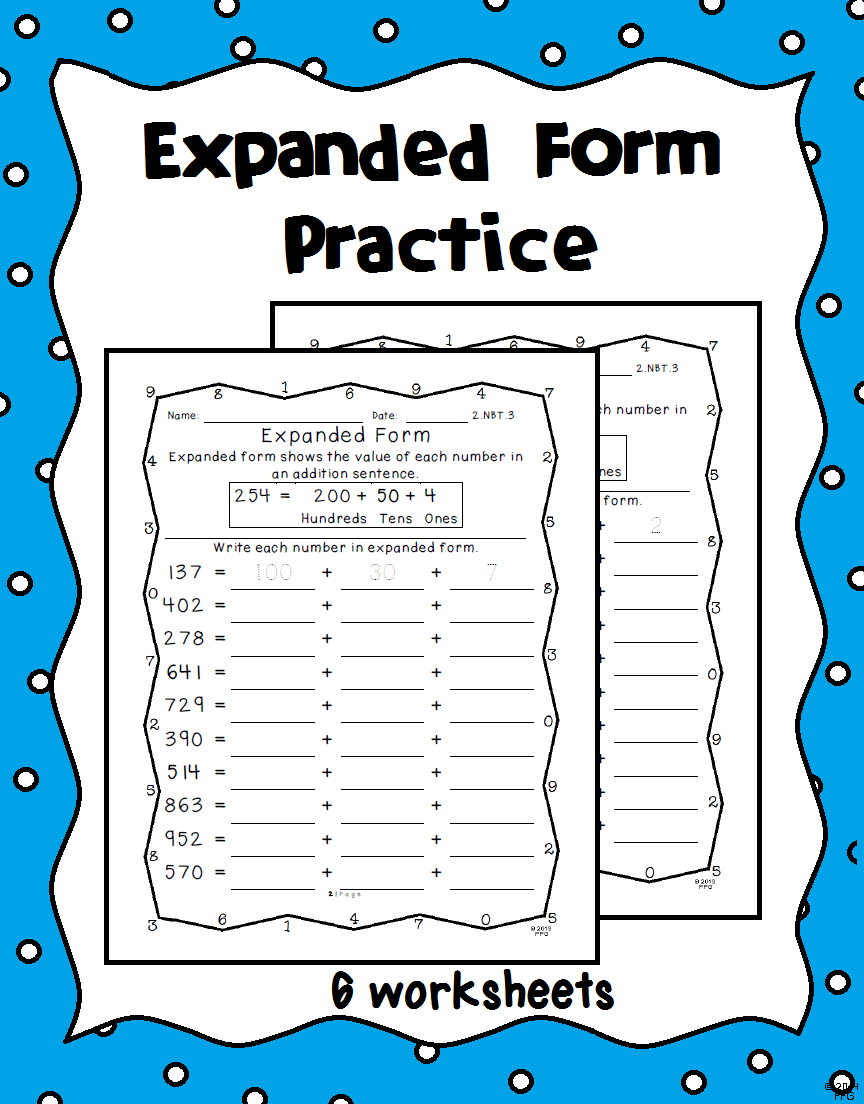 Expanded Form Practice