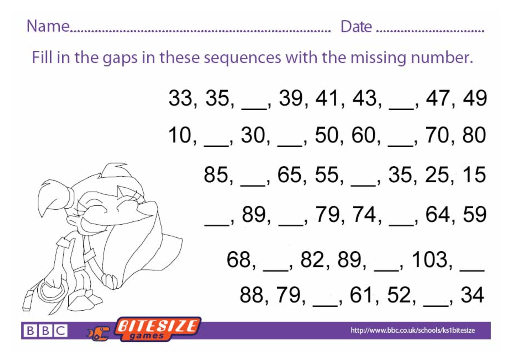 Key Stage 2 Worksheet Free