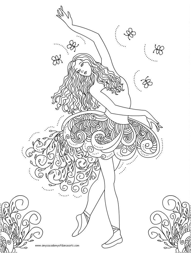 Colorings Co Coloring Pages For Girls Dance Alredy Colored