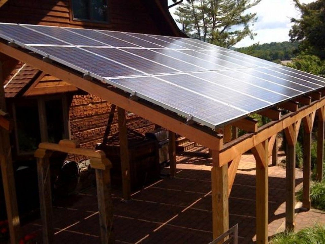 Custom Solar PV Canopy Design & Installation patio/porch