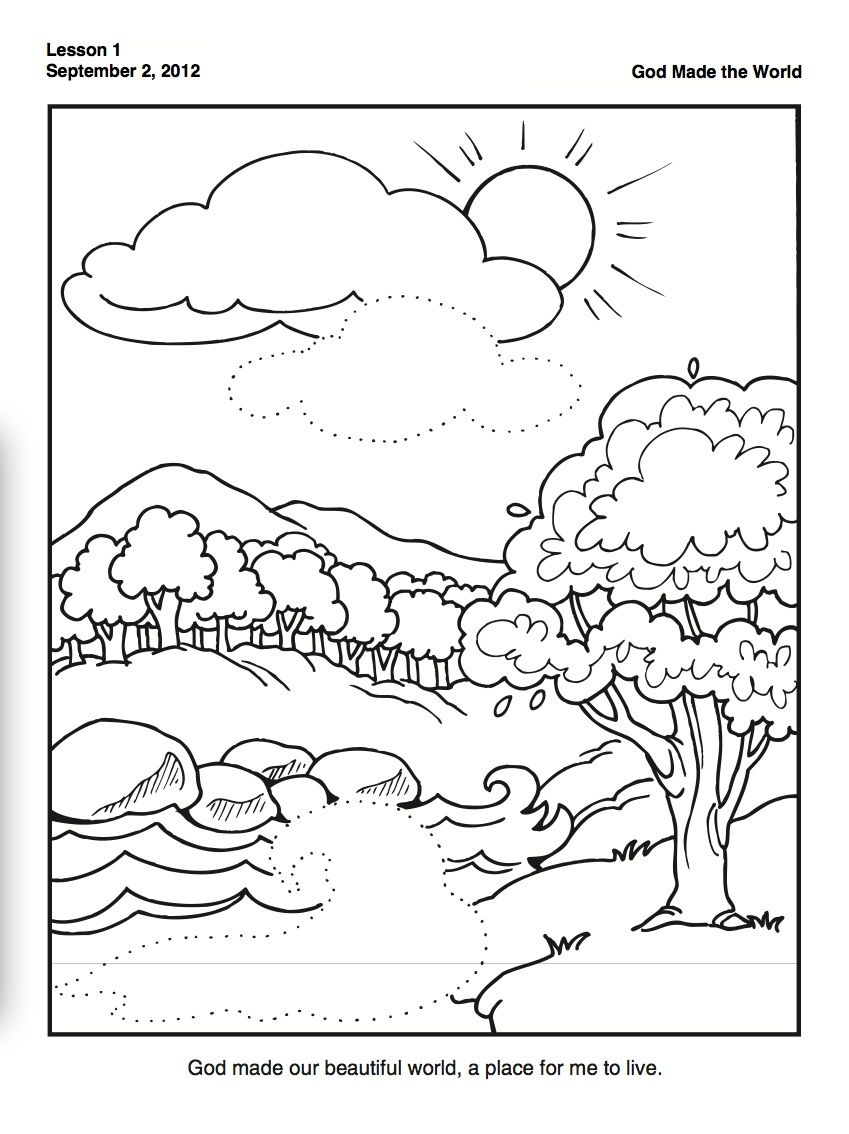 creation coloring pages days of creation and the creation on