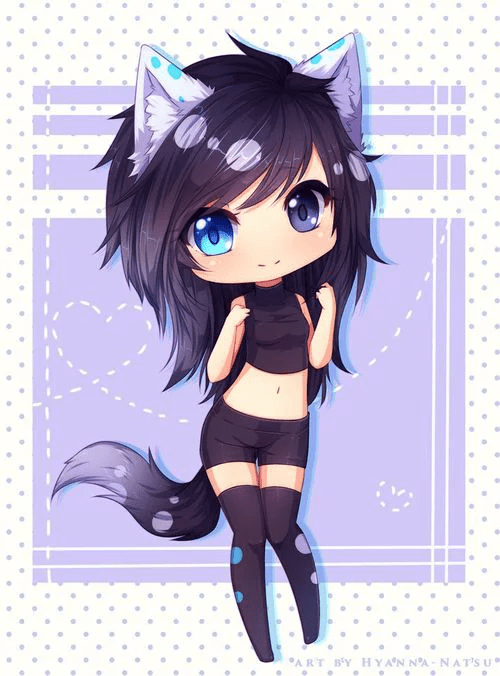 chocolate anime kawaii anime cat girl Pinterest