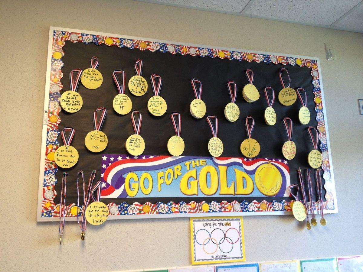 Go For The Gold Bulletin Board Idea. Setting goals