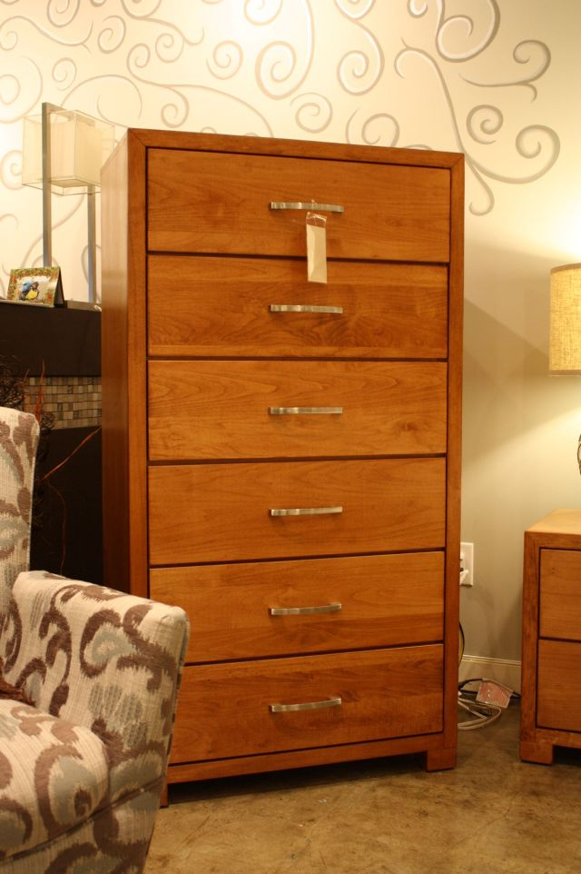 Professional Furniture 5dr Chest All Canadian Maple Coco Cherry