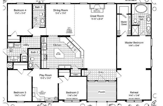 5 Bedroom 3 Bath Modular Home Floor Plans Bedroom Style Ideas