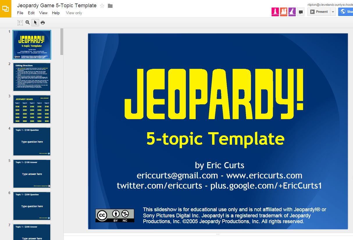 How To Make A Jeopardy Game On Open Office Presentation