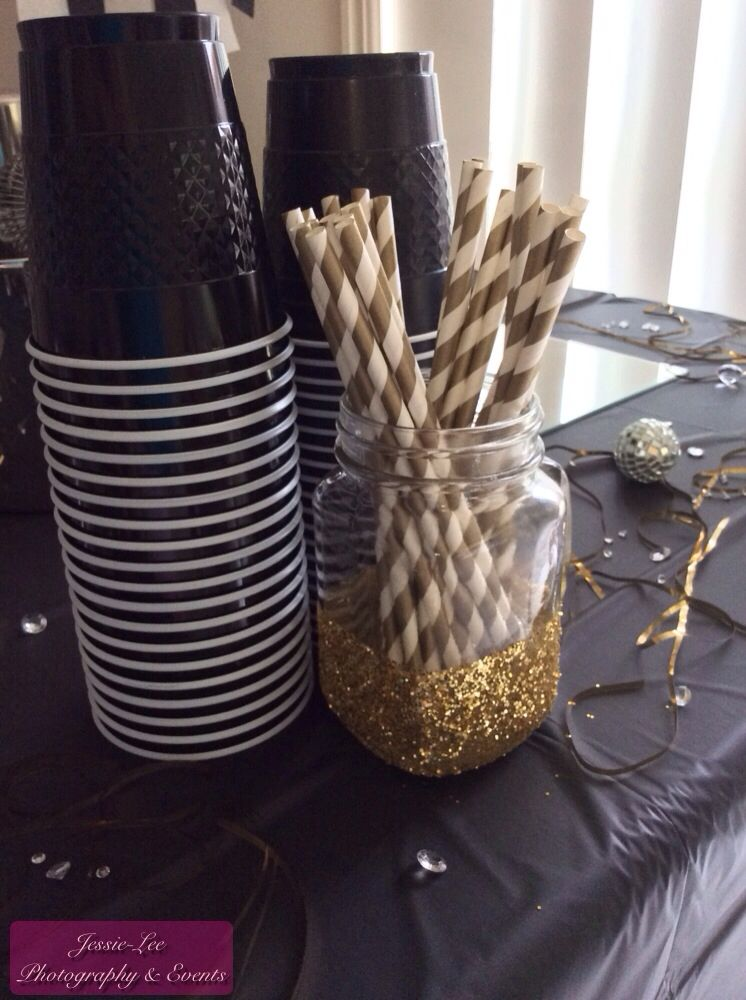 New Year's Eve Party Decorations 2014 Black, White