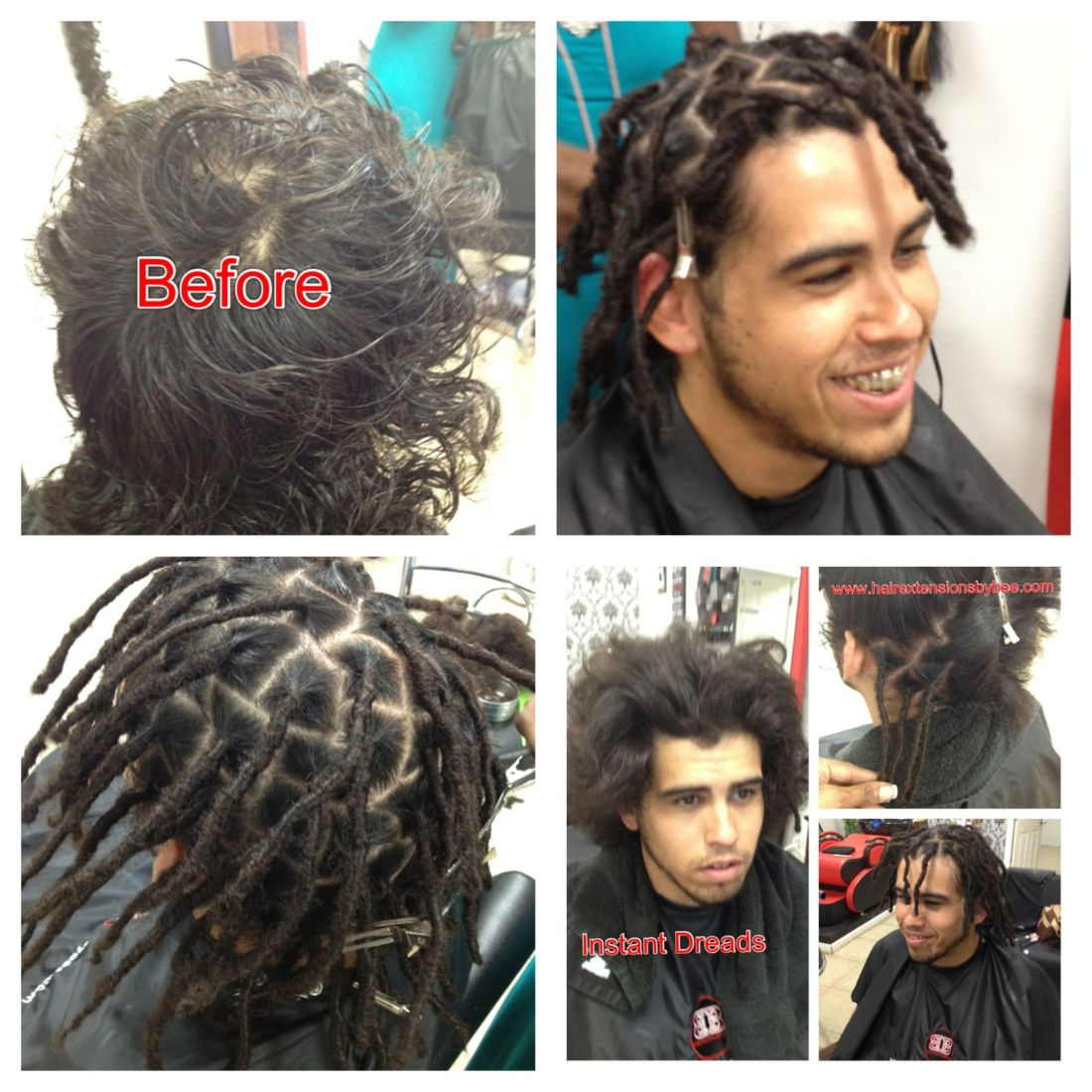 Instant dreads will work with any texture hair doesnt