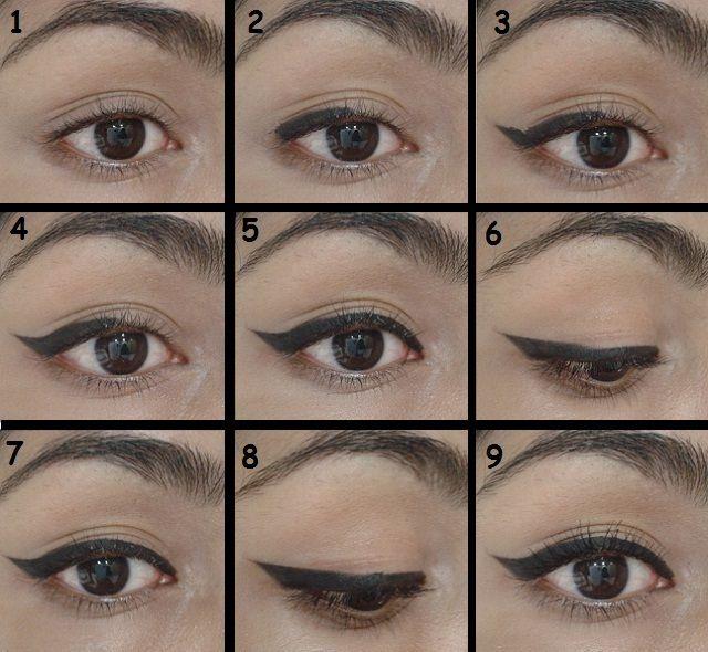 Cat Eye Eyeliner Step By Diagram Hair Beauty