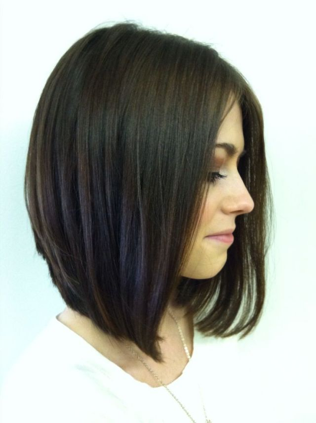 Long  Stacked Haircuts  on Pinterest Thick Hair Hairstyles