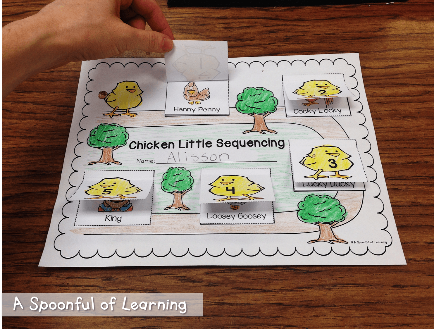 Farm Math And Literacy Activities And Craft Too Chicken Little Sequencing