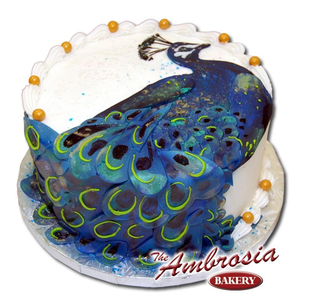 Peacock, 1/2 Sheet Cake Ambrosia Bakery PEACOCK food