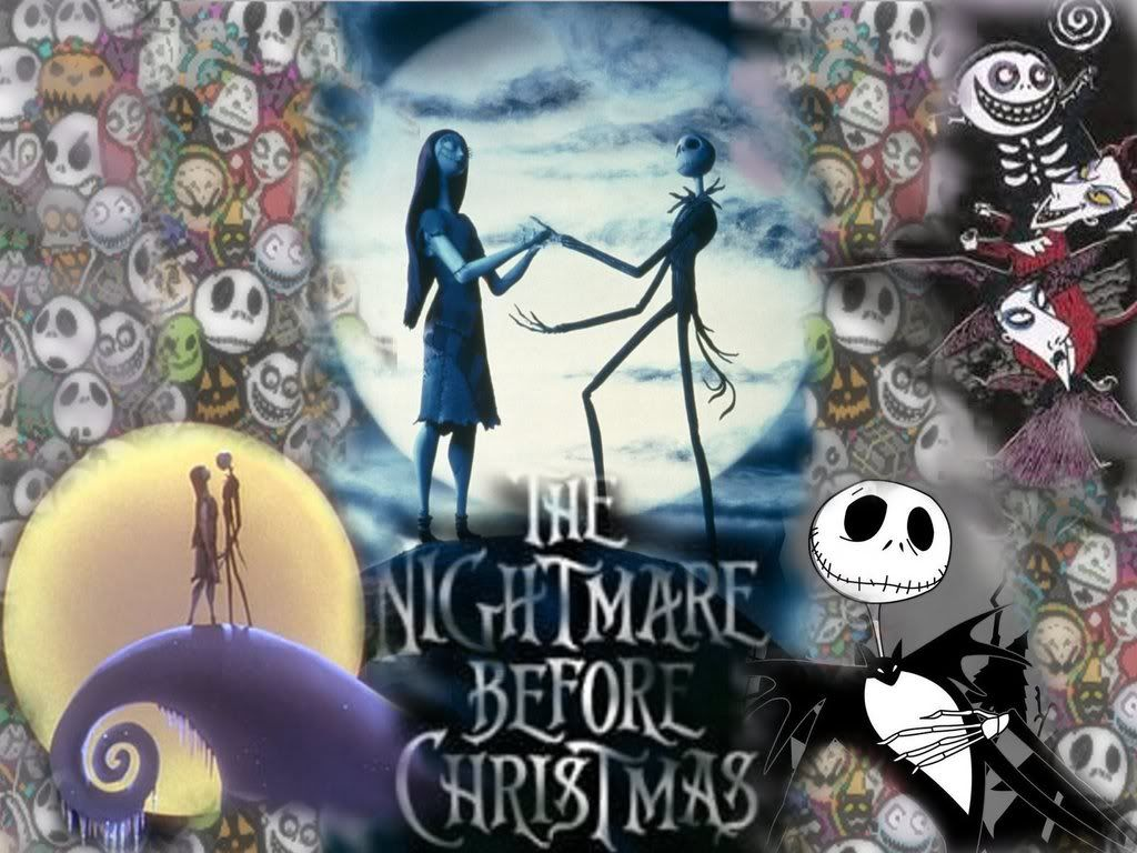 Nightmare Before Christmas Wallpaper Jack and Sally