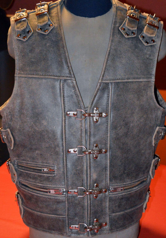 Biker vest, Handmade unique motorcycle vest, genuine