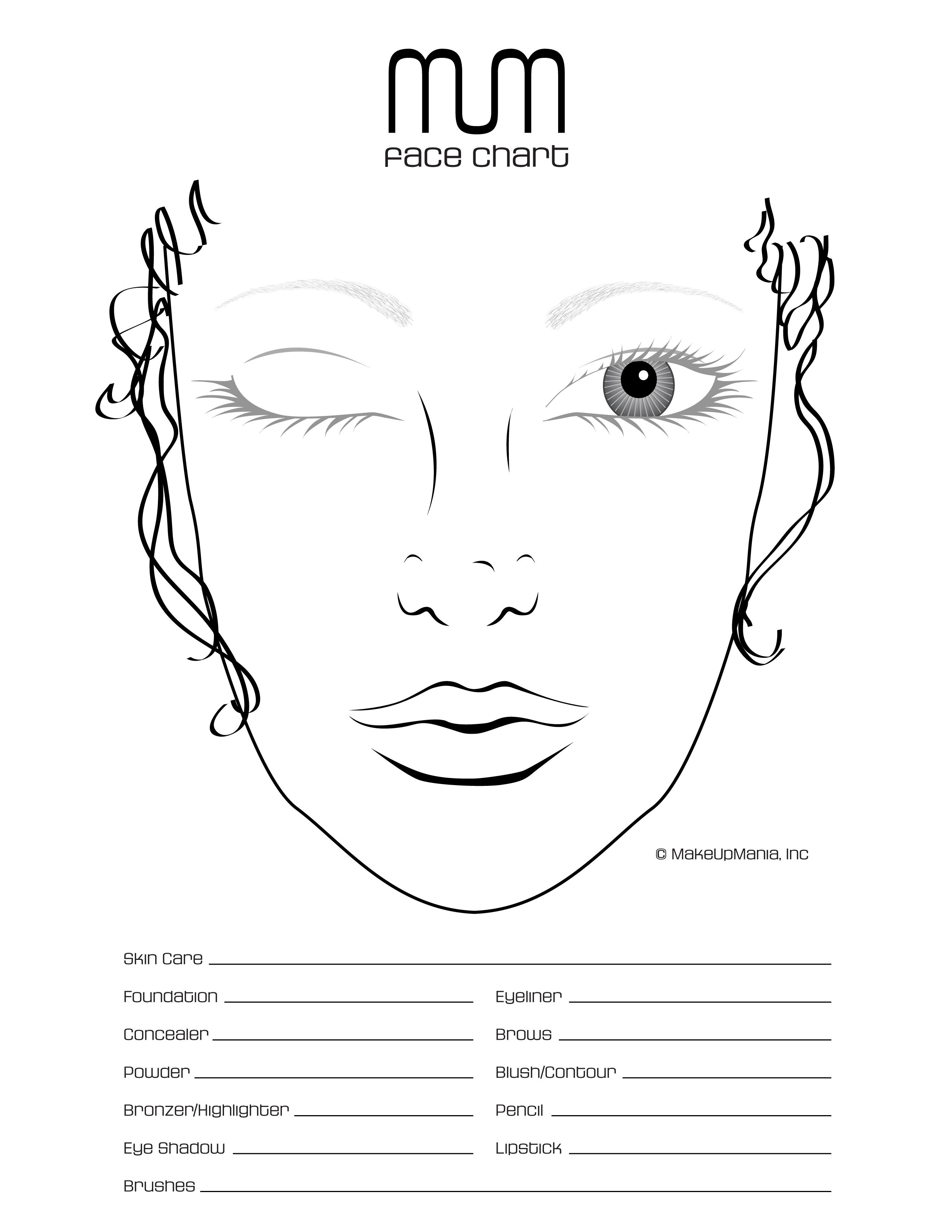 Face Chart For Practice And Repertoire Of Looks