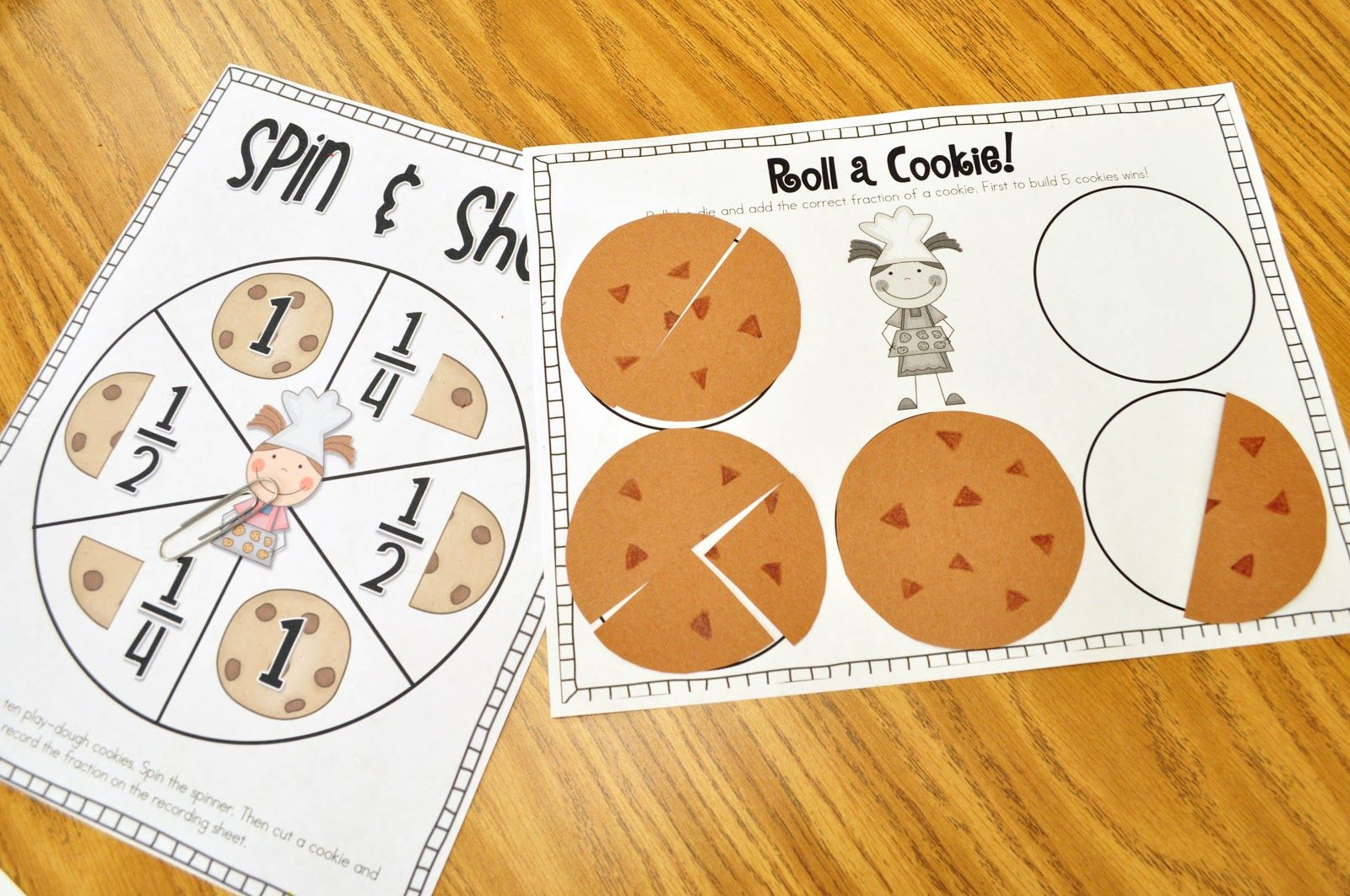 Here S A Fun Cookie Fractions Game To Go Along With The