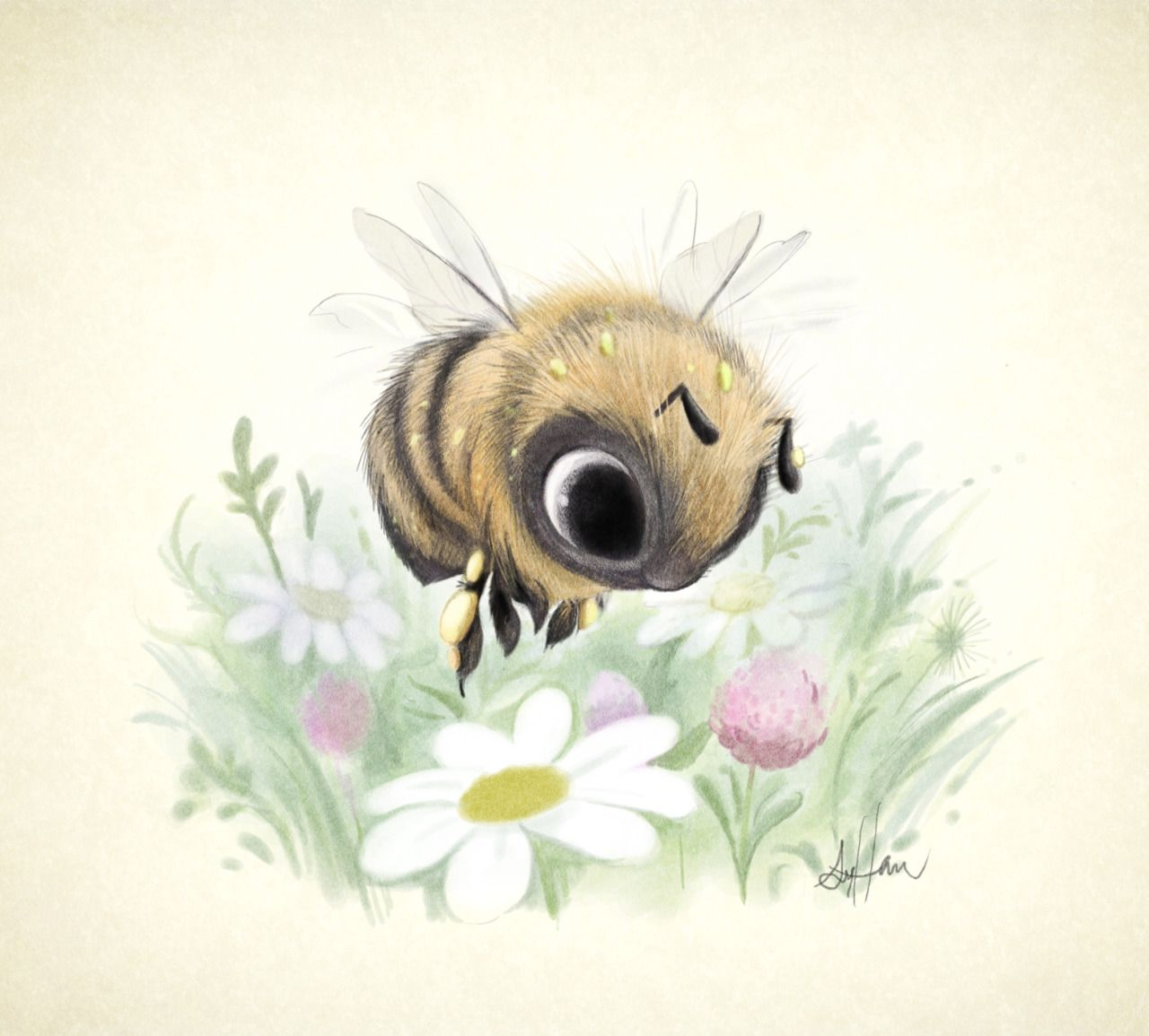 Little worker bee! Super cute illustrations by Sydney