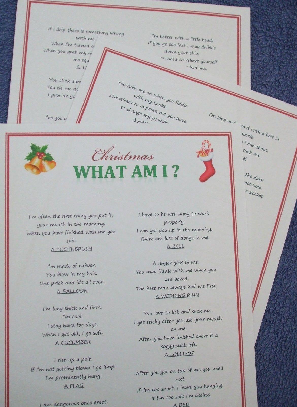 Adult Christmas Party Game Fun Xmas Entertainment Idea Quiz Activity T