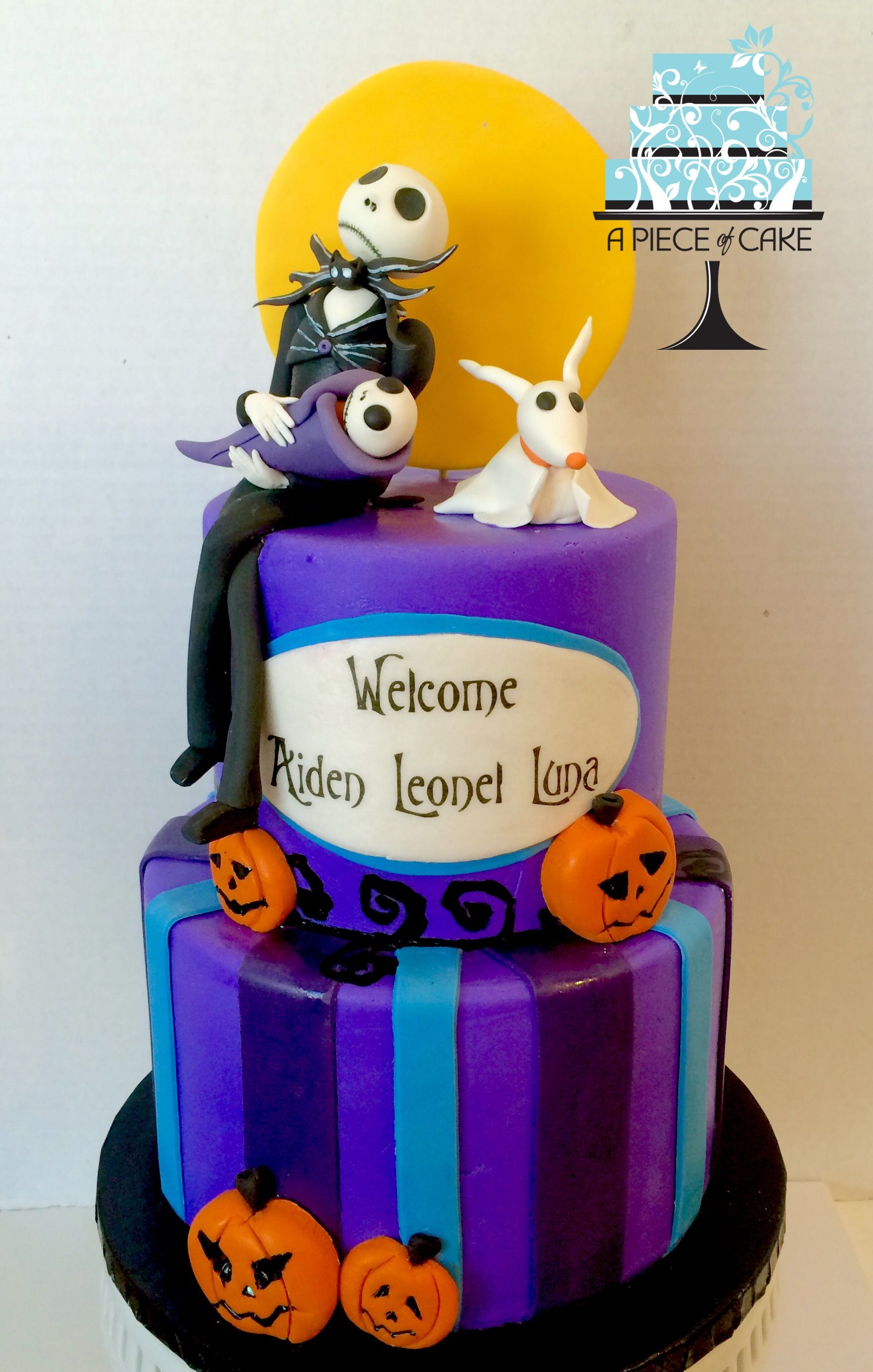 Nightmare Before Christmas Baby Shower Cake By A Piece Of