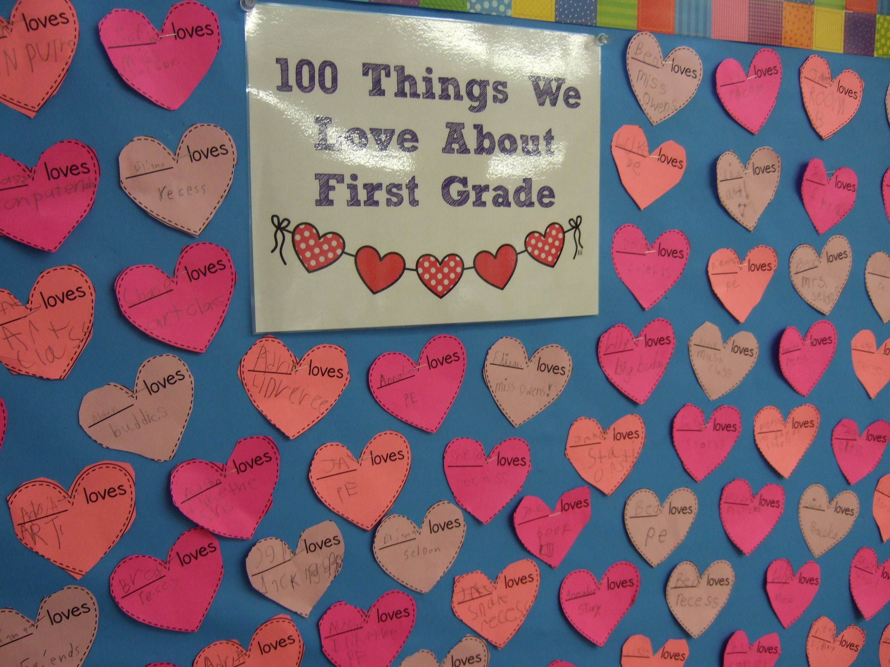 Free 100 Things We Love About First Grade Amp More