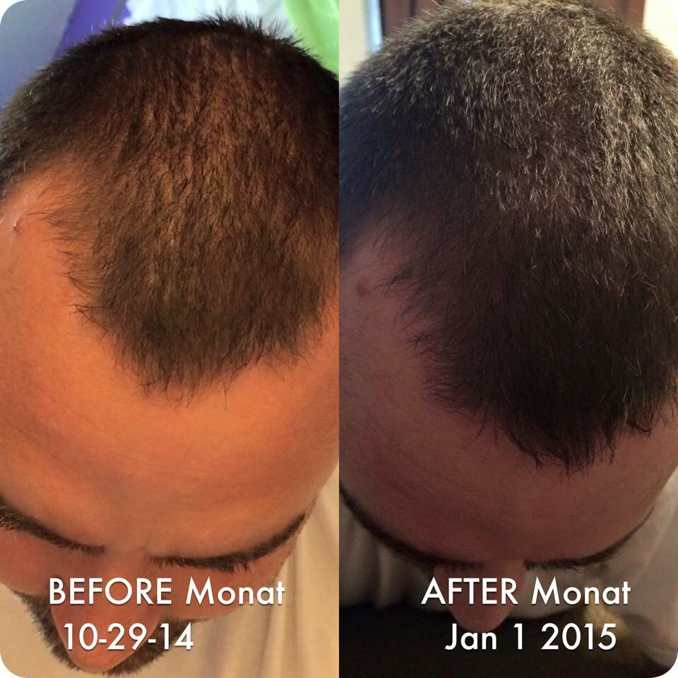 Before and After using Monat hair care. Please go to