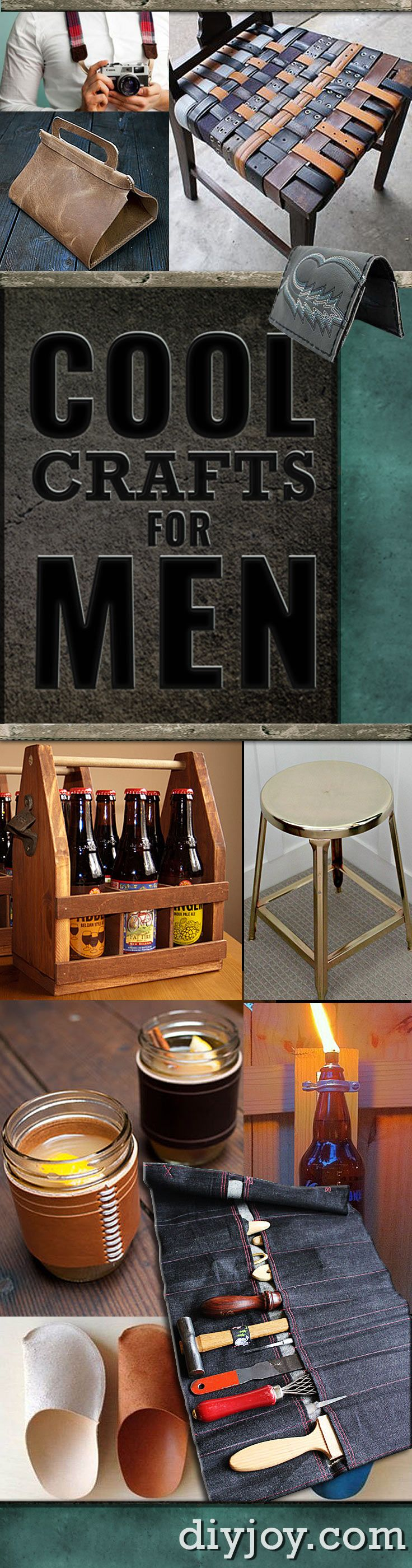 Ridiculously Cool DIY Crafts for Men Men crafts, Men