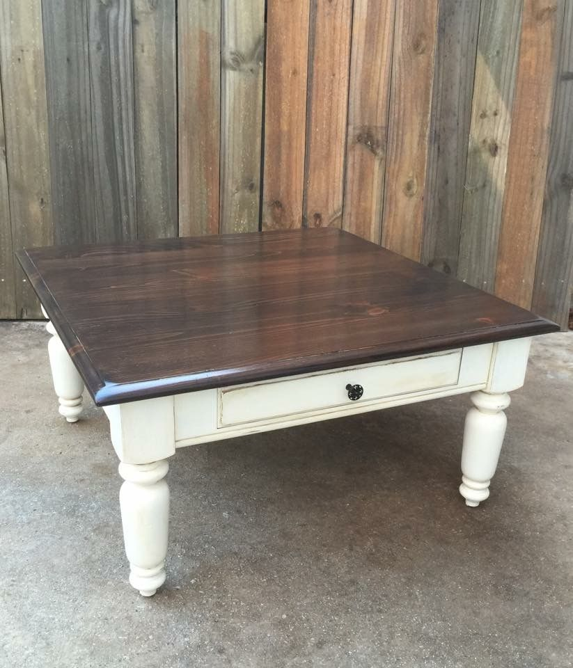 Rustic, Distressed, Shabby Chic Farmhouse Coffee Table