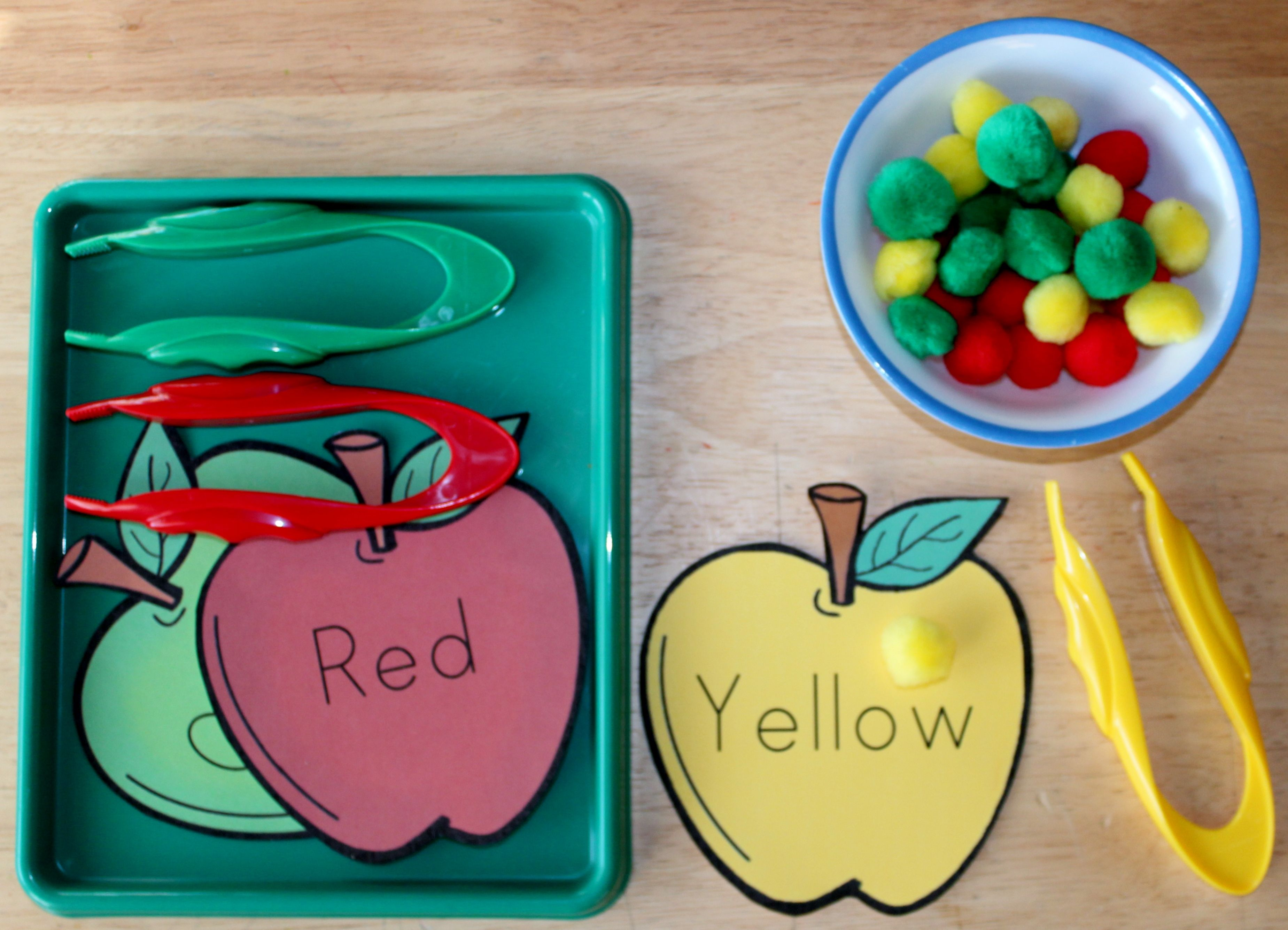 I Have Added An Apple Color Pom Pom Sorting Tray Activity To 1
