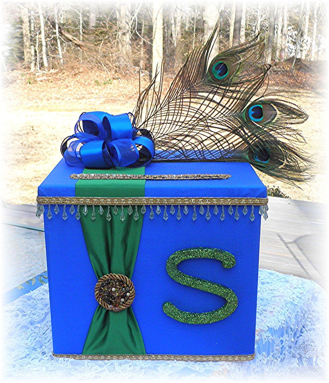 Indian Hindu Wedding CARD BOX Wishing Well Peacock