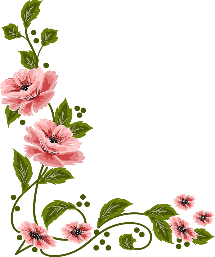 flowers, painting Illoustrator, PNG file vectors