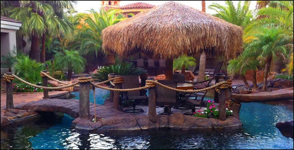 Outdoor Tiki Bar Plans Tropical Pools and Design Lake