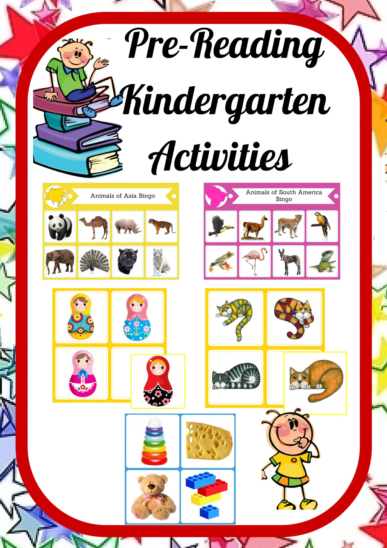 Pre Reading Kindergarten Pack Montessori Inspired