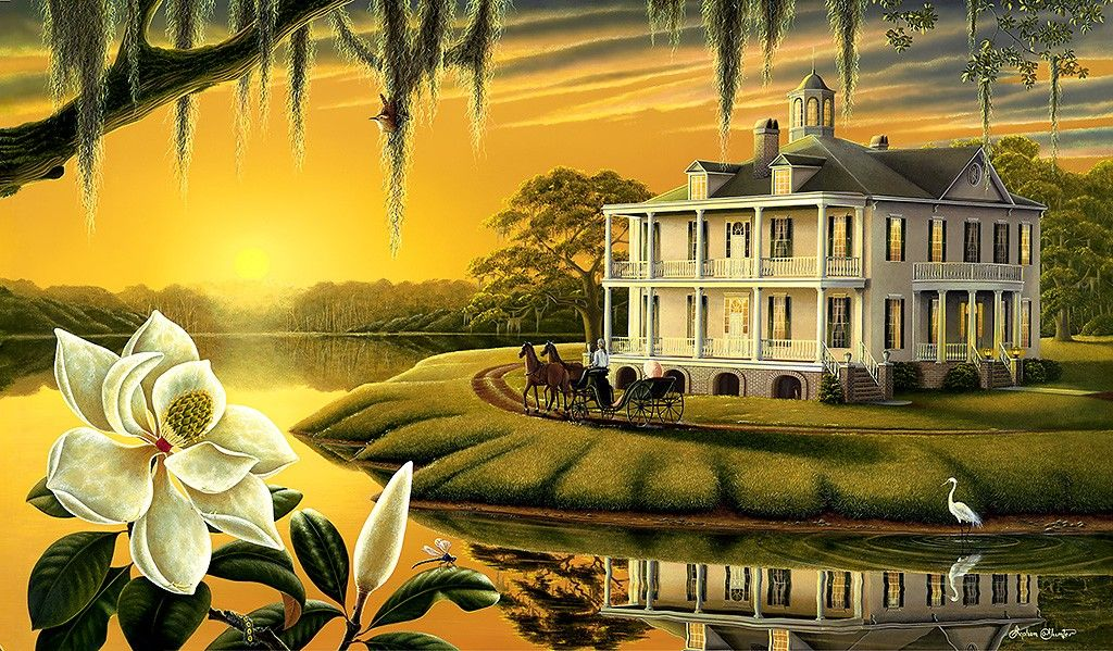 "Southern Plantation Home. Could the ""LebeauBlanc"" family"