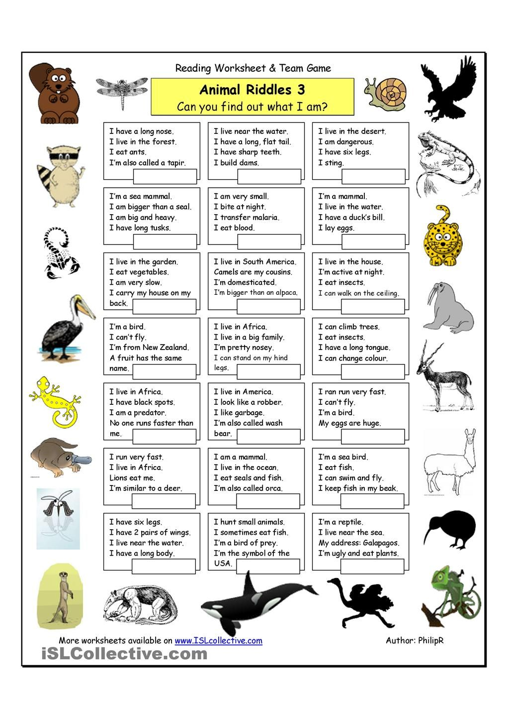 Animal Riddles 3 (Hard) Riddles Pinterest Animal