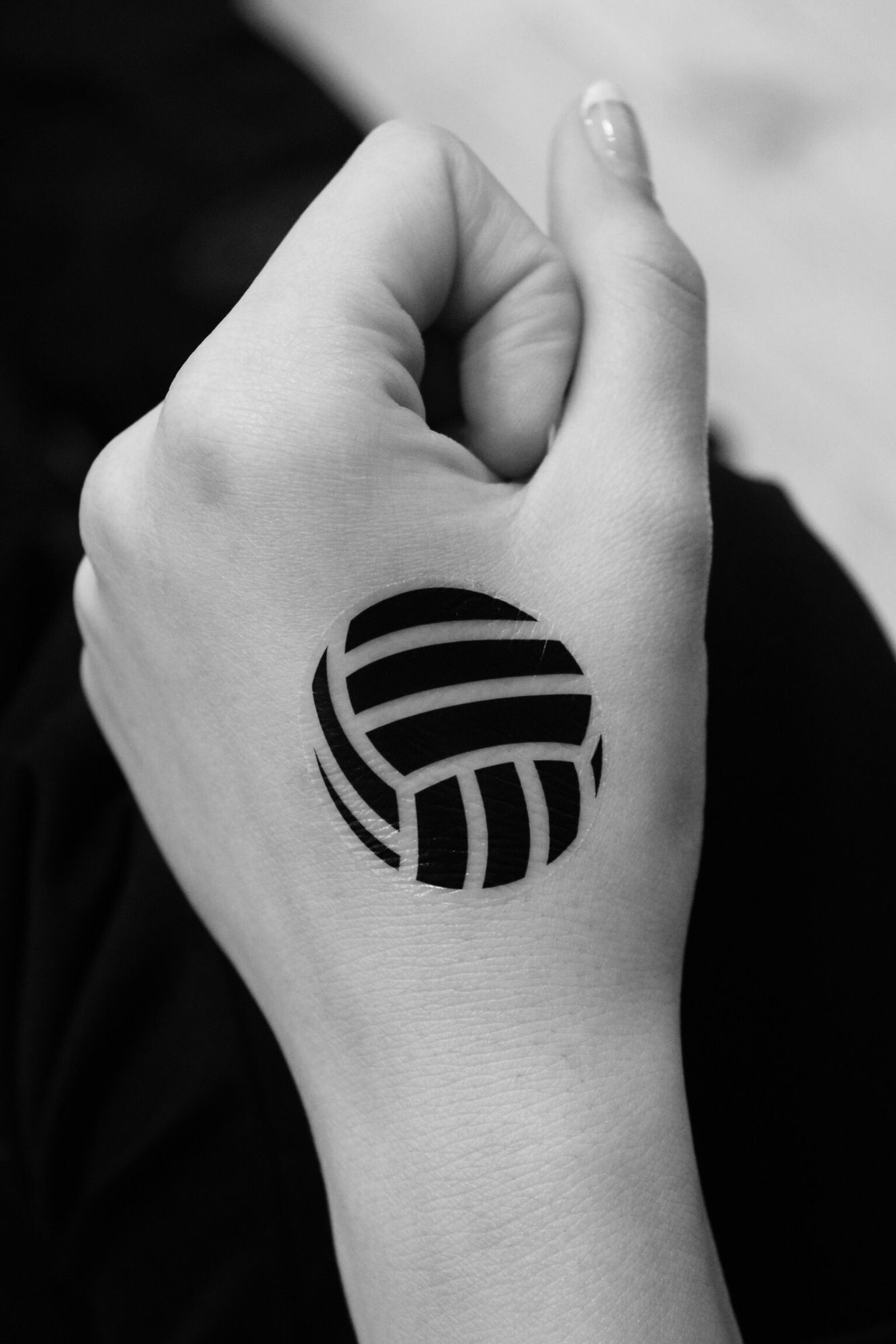 Temp volleyball tattoo that I made for the team