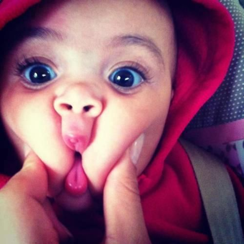 Image result for The cutest babies with Bulgy eyes