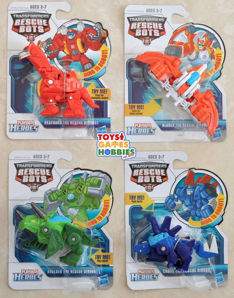 4X Transformers Rescue Bots Heatwave / Blades / Chase