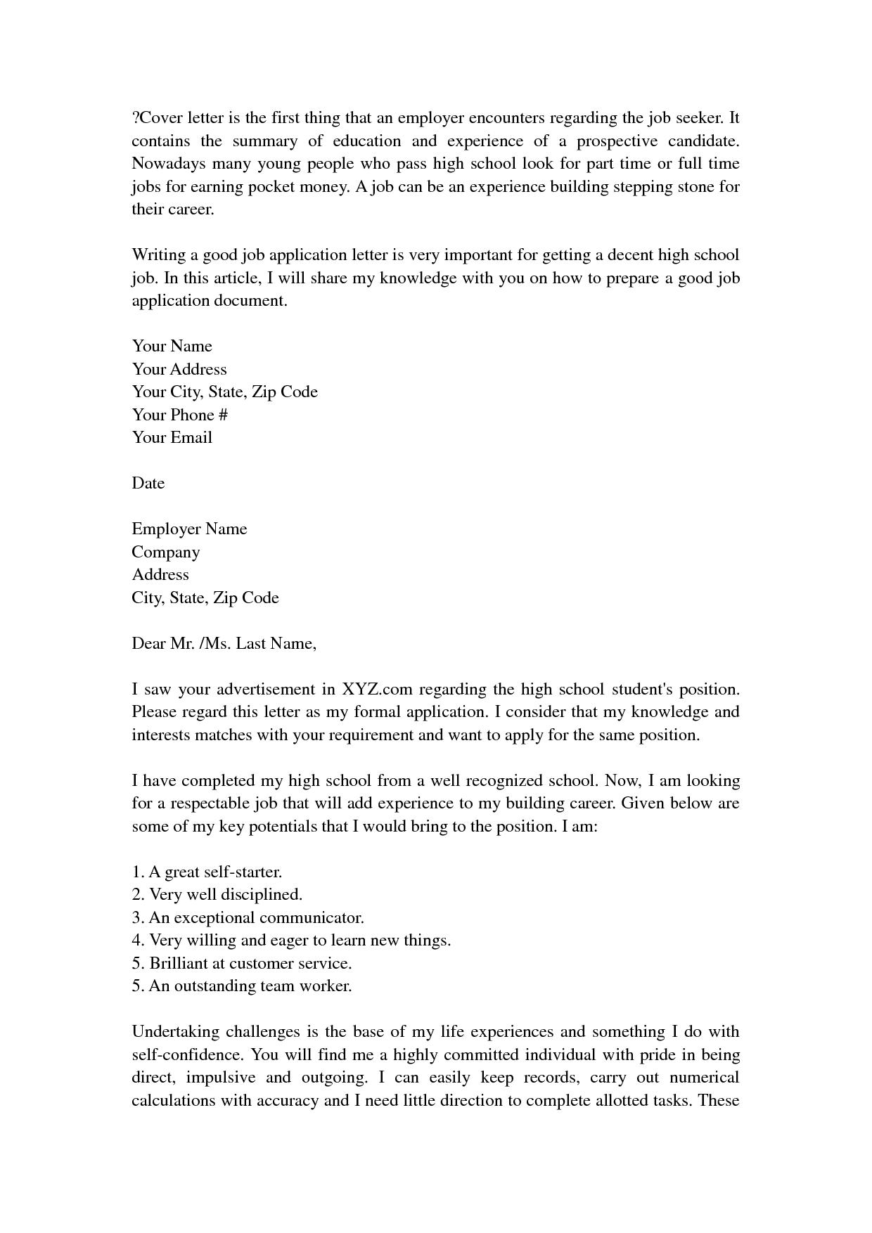 High School Resume For Jobs Resume Builder Resume