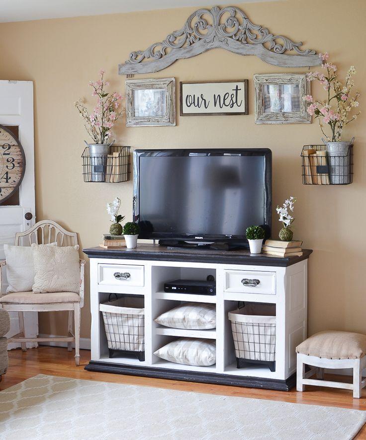 Easy Farmhouse Style TV Stand Makeover Farmhouse style